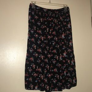 Midi length floral skirt